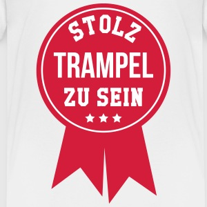 Trampel Tollpatscherin Tollpatsch Schnitzer Freund T-Shirts - Teenager Premium T-Shirt