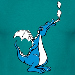 Dragon smoking funny weed joint T-Shirts - Men's T-Shirt