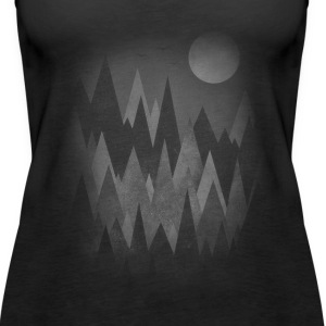 Dark Mystery Woods (Abstract Mountain Art) Toppe - Dame Premium tanktop