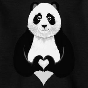 Cute Panda Heart Hand Sign Camisetas - Camiseta niño
