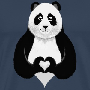 Cute Panda Heart Hand Sign T-Shirts - Men's Premium T-Shirt