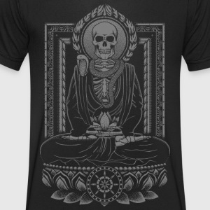 Starving Buddha Charcoal T-Shirts - Men's V-Neck T-Shirt