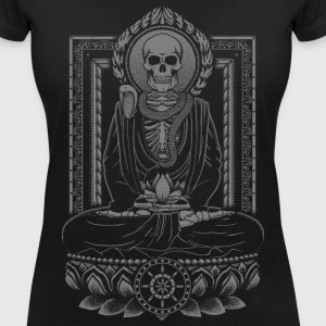 Starving Buddha Charcoal T-Shirts - Women's V-Neck T-Shirt