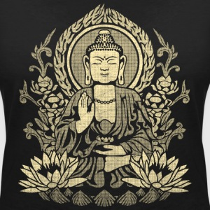 Gautama Buddha Yellow T-Shirts - Women's V-Neck T-Shirt