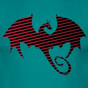 Dragon pattern silhouette T-Shirts - Men's T-Shirt