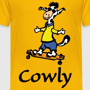 Cowly der Longboarder - Teenager Premium T-Shirt