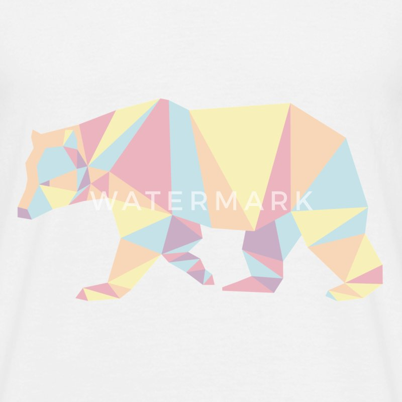 Color Bear Animal Prism T-Shirts - Men's T-Shirt