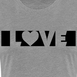 Love Black T-Shirts - Frauen Premium T-Shirt