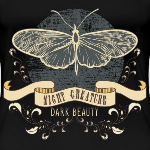 moth_creature_of_the_night_04201601 T-Shirts - Frauen Premium T-Shirt