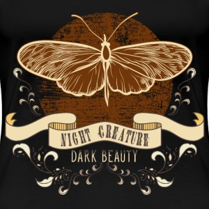 moth_creature_of_the_night_04201602 T-Shirts - Frauen Premium T-Shirt