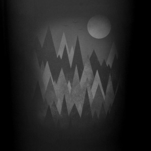 Dark Mystery Woods (Abstract Mountain Art) Kubki i dodatki - Kubek jednokolorowy