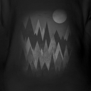 Dark Mystery Woods (Abstract Mountain Art) Babybody - Ekologisk kortärmad babybody
