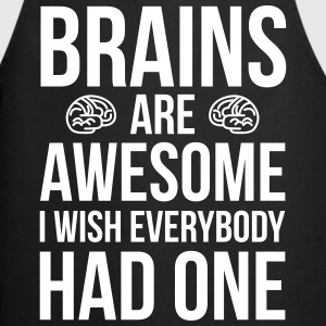 Brains Are Awesome Funny Quote Grembiuli - Grembiule da cucina
