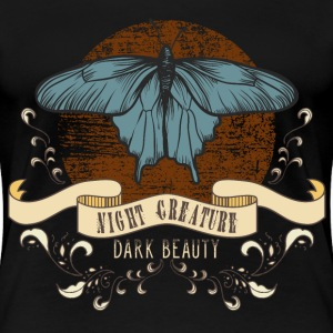 moth_creature_of_the_night_04201605 T-Shirts - Frauen Premium T-Shirt