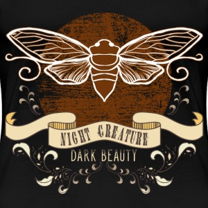 moth_creature_of_the_night_04201608 T-Shirts - Frauen Premium T-Shirt