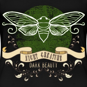 moth_creature_of_the_night_04201609 T-Shirts - Frauen Premium T-Shirt