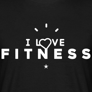 Tee shirt Homme i love fitness - T-shirt Homme