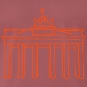 Berlin, Brandenburger Tor (neon-orange) - Männer Premium T-Shirt