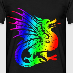 dragonrainbw.png T-Shirts - Men's T-Shirt