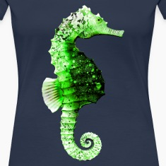 Seahorse in Green T-Shirts