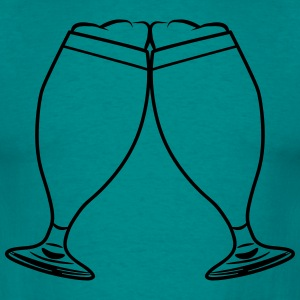 toast drink beer glass of beer T-Shirts - Men's T-Shirt