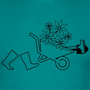 Garden boots wheelbarrow gardening T-Shirts - Men's T-Shirt