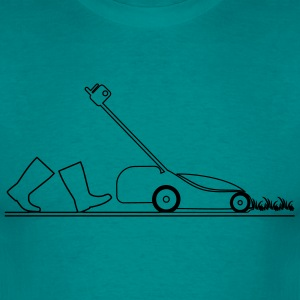 lawn mowing garden lawnmower T-Shirts - Men's T-Shirt