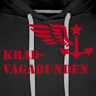 Motiv ~ Kapuzenpulli: Logo + Schriftzug vorne (roter Aufdruck)