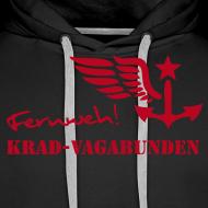 Motiv ~ FERNWEH - Kapuzenpulli (Aufdruck rot)