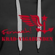 Motiv ~ Kapuzenpulli Damen -  Fernweh (roter Aufdruck)