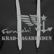 Motiv ~ Kapuzenpulli Damen -  Fernweh (grauer Aufdruck)