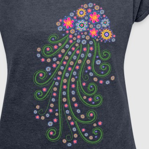Jellyfish, flower of the sea, summer, diving, T-shirts - Dame T-shirt med rulleærmer