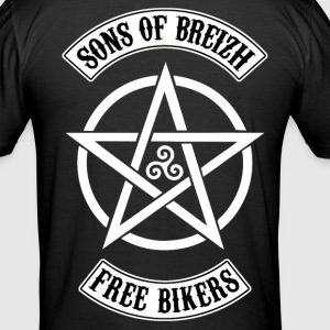Sons of Breizh free bikers Tee shirts - Tee shirt près du corps Homme