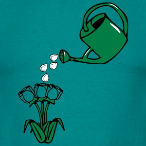 Garden watering flowers T-Shirts - Men's T-Shirt