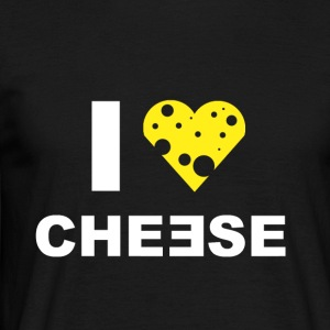 I LOVE CHEESE - Männer T-Shirt