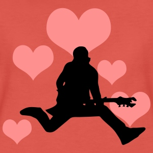 Rocker with heart - Women's Premium T-Shirt