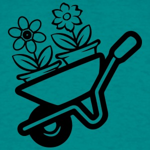 Garden wheelbarrow flowers T-Shirts - Men's T-Shirt