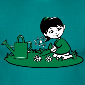 Garden watering flowers plants T-Shirts - Men's T-Shirt