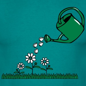 Garden flowers watering T-Shirts - Men's T-Shirt