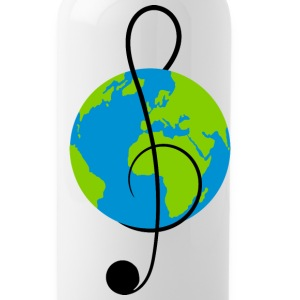 Drinking bottle with world music - Water Bottle