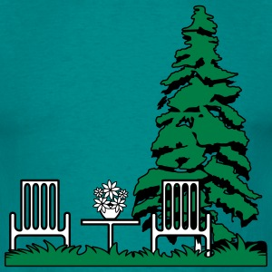 Garden flowers balcony furniture T-Shirts - Men's T-Shirt
