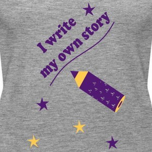 I write my own story Topper - Premium singlet for kvinner