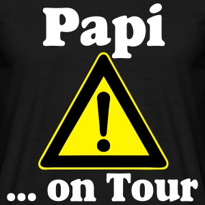Vatertag Papi on Tour Gel T-Shirts - Männer T-Shirt
