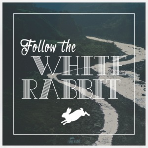 Follow the white rabbit - Männer T-Shirt