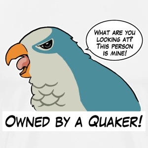 Owned by a blue quaker - Men's Premium T-Shirt