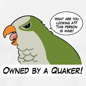 Owned by a green quaker - Men's Premium T-Shirt