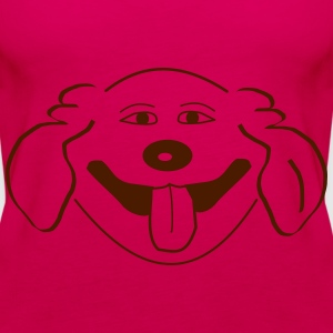 Naughty dog - Vrouwen Premium tank top