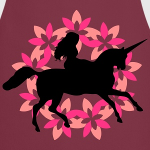 Unicorn with flowers - Cooking Apron