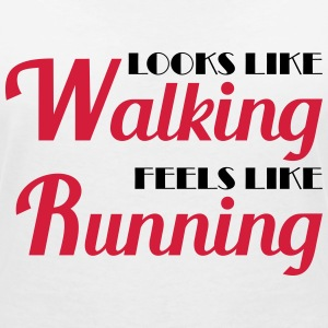 Looks like walking, feels like running T-shirts - Vrouwen T-shirt met V-hals
