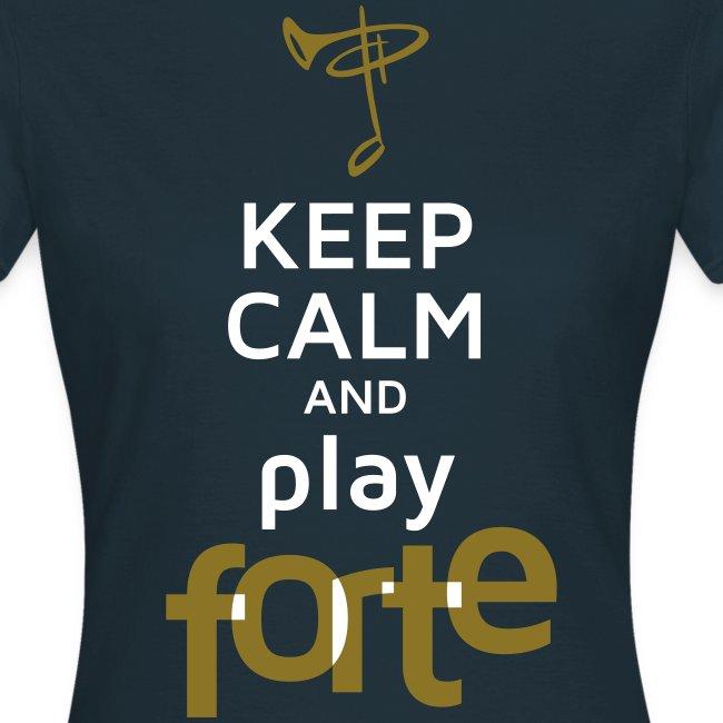 T-Shirt Frau, Folien-Text gold/weiß